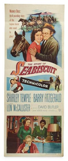 """Love, Shirley Temple, Take Two: From Schoolgirl to Storybook: 270 Film Poster for the Shirley Temple 1949 Film """"The Story of Seabiscuit"""" and Two Lobby Cards"""