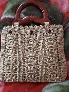 Crochet Shell Stitch, Crochet Tote, Crochet Handbags, Crochet Purses, Crochet Crafts, Crochet Stitches, Crochet Baby, Crochet Projects, Knit Crochet