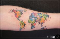 World map watercolor tattoo google search inkling pinterest world map tattoo definitely getting this gumiabroncs Gallery