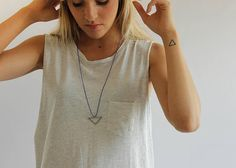 Shop for necklace on Etsy, the place to express your creativity through the buying and selling of handmade and vintage goods. Stainless Steel, V Neck, T Shirts For Women, Trending Outfits, Studio, Unique Jewelry, Pendant, Etsy, Collection