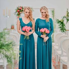 Gelique Nelly and Abby Dresses in bottle green. We love the colour combination of the dresses and bouquets! Fabric Combinations, Bridesmaid Dresses, Wedding Dresses, Body Types, Compliments, Bouquets, Custom Made, Colour, Elegant