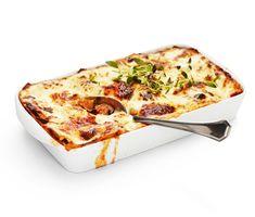 Svamplasagne med mozzarella och zucchini