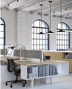 Screen layout: creating a more productive team with an open office - Office Designs Corporate Office Design, Office Space Design, Modern Office Design, Office Interior Design, Office Interiors, Office Designs, Office Ideas, Office Decor, Office Setup