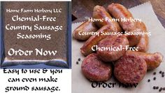 Country Sausage Seasoning, Order now,..., Food items in Hart County