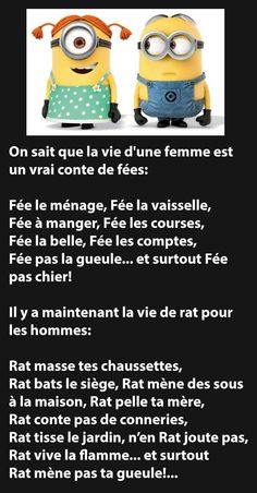 Les minions Fée et Rat :-) Minion Humour, Minion Jokes, Minions Quotes, Mantra, Funny Quotes, Funny Memes, Quotes Quotes, Sarcasm Humor, Funny Messages