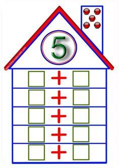Parts of 6 Montessori Math, Preschool Learning Activities, Kindergarten Math, Teaching Math, Preschool Activities, Math Addition, Addition And Subtraction, Math Expressions, School Worksheets