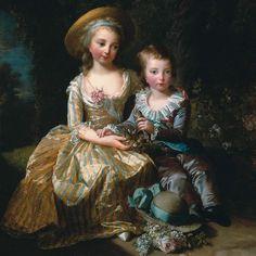 Élisabeth Vigée Le Brun - Marie-Thérèse Charlotte de France, dite Madame Royale et son frère, le dauphin Louis-Joseph Xavier François de France