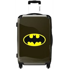 IKASE Batman Comic ($118) ❤ liked on Polyvore featuring bags, batman, accessories, other, purses, black, locking bag, comic book, black comic book and trolley bag
