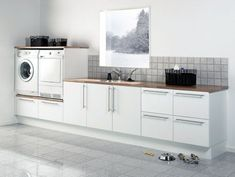 Way too big a laundry . you don't need all of this space/storage in the laundry ! Laundry Room Design, Laundry In Bathroom, Interior Design Living Room, Living Room Designs, Küchen Design, House Design, Laundry Room Inspiration, Paint Colors For Living Room, Kitchen Remodel