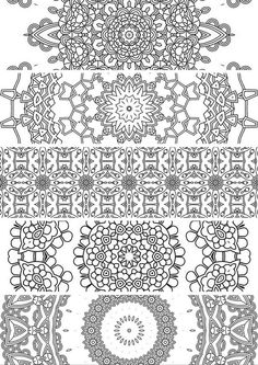 5 Bookmarks,Printable bookmarks, Instant Download, PDF, Mandala Doodling Page, Adult Coloring Pages, Kids Coloring, coloring bookmark