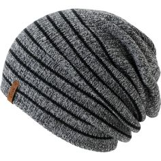 9392f0dd22a Empyre Girls Juliet Black   Charcoal Stripe Beanie at Zumiez   PDP Scarf Hat