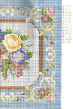miniature needlework chart (right side)