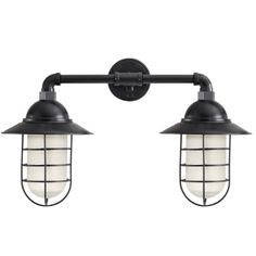 Double Market Industrial Guard Sconce Lights | Barn Light Electric