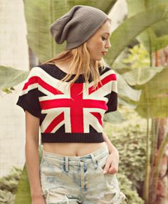 Forever 21 Union Jack Top #Crop #Fashion