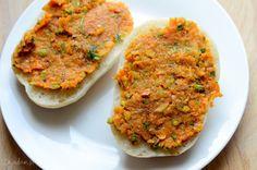 Pasta kanapkowa z pieczonych warzyw
