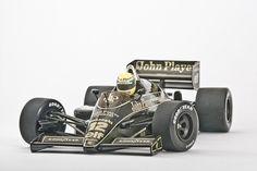 Ayrton Senna in the John Player Special Lotus.