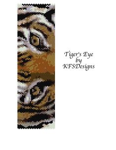 Peyote Stitch Bracelet Pattern  Tiger's Eye Buy 2 by KFSDesigns, $6.50