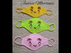 mask covers mouths crocheted # 2 second part - annika Crochet Mask, Crochet Faces, Crochet Diy, Crochet Beanie, Crochet Home, Crochet For Kids, Crochet Symbols, Crochet Stitches Patterns, Dream Catcher Craft