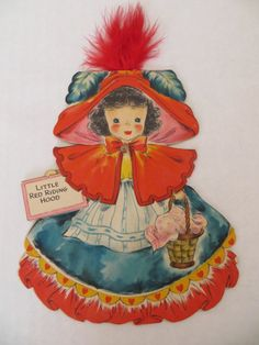 Vintage Hallmark Land of Make Believe Doll Card - Little Red Riding Hood