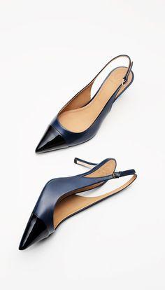 b260d39b0897b9 Tory Burch Penelope Shoes   Slingback Pumps Cap Toe Shoes, Slingback Pump,  Your Shoes