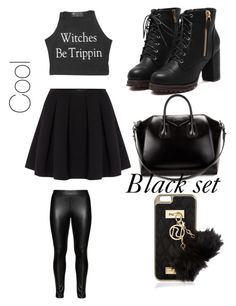 """Black set #2"" by fashion-010 on Polyvore featuring Studio, Polo Ralph Lauren, Givenchy and River Island"