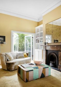 An elegant 1890s terrace transformation | Belle Kitchen Banquette, Kitchen Cabinetry, Arabescato Marble, Custom Consoles, Old Kitchen, Australian Homes, Formal Living Rooms, Types Of Houses, Cottage Style