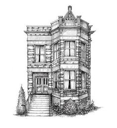 Commission a pen-and-ink drawing of your home. So Cool!