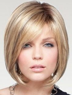 Sleek layered short bob silk top full lace human hair wig ...
