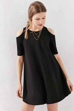 Silence + Noise Cold Shoulder Knit Frock Dress - Urban Outfitters
