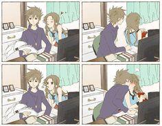 cute anime couple.