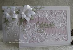 pamscrafts: Ornate Lace embossing folder by Crafters Companion. Wedding Cards Handmade, Greeting Cards Handmade, Card Making Tutorials, Making Ideas, Crafters Companion Cards, Tattered Lace Cards, Embossed Cards, Card Patterns, Pretty Cards