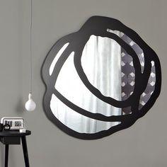 Gervasoni - Sweet Spiegel - spiegel/schwarz / 150x150cm/Größe 2