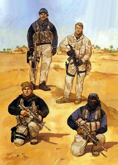 Coalition forces during the Gulf War