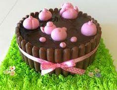 pig in mud birthday cake - Google Search