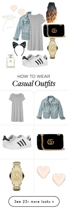 """""""Casual  look"""" by nanoyakhamis23 on Polyvore featuring Gap, adidas, Gucci, Michael Kors, Ted Baker, Hollister Co., Maison Close and Chanel"""