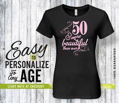 50th Birthday Gifts For Women By PrinterestingTee Men