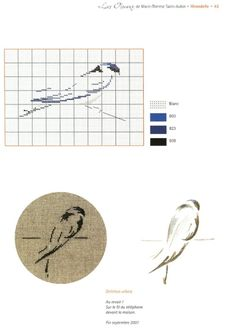 free simple modern bird cross stitch pattern and color chart based off watercolor paintings Cross Stitch Tree, Just Cross Stitch, Cross Stitch Needles, Cross Stitch Borders, Cross Stitch Animals, Modern Cross Stitch Patterns, Cross Stitch Flowers, Cross Stitch Charts, Cross Stitch Designs