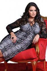 www.tamanhosespeciais.com.br Vestido Renda estampado GG EGG Plus Size 48 50 52 54