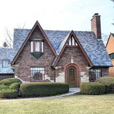 """@theamericanhome on Instagram: """"Storybook English Tudor built in 1926 that was originally owned by a member of the Soukup family who owned a hardware store in downtown…"""" English Tudor, Cottage Style Homes, Cottages, Hardware, Cabin, Architecture, House Styles, Store, Building"""
