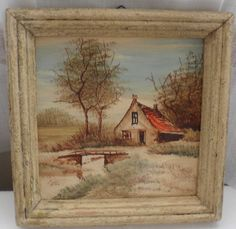Vintage Painting  Unknown German/Austrian Artist  by BYGONERA