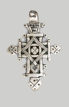 Ethiopia | Pendant cross; silver, copper alloy | c. 1960s