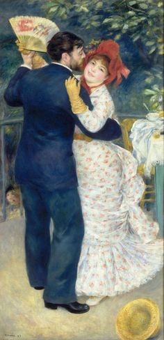 "Pierre-Auguste Renoir (1841-1919) - ""Danse à la campagne"" - Huile sur toile - http://www.musee-orsay.fr/fr/collections/catalogue-des-oeuvres/resultat-collection.html?no_cache=1&zoom=1&tx_damzoom_pi1[zoom]=0&tx_damzoom_pi1[xmlId]=001161&tx_damzoom_pi1[back]=fr%2Fcollections%2Fcatalogue-des-oeuvres%2Fresultat-collection.html%3Fno_cache%3D1%26zsz%3D9"