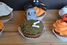 Cupcakes tombe RIP Halloween - idée recette Halloween gâteau et pâtisserie