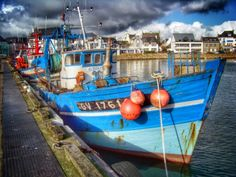 Pays bigouden, un bateau du guilvinec