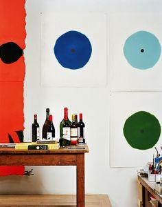 Donald Sultan's studio   by Mark Mahaney