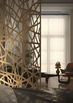 Shop online for unique and custom-made decorative screens for wall decor, room dividers, partitions, garden and privacy screens. Partition Walls, Room Partition Designs, Decor Interior Design, Interior Decorating, Decorative Screen Panels, Privacy Screen Outdoor, Room Decor, Wall Decor, Room Dividers
