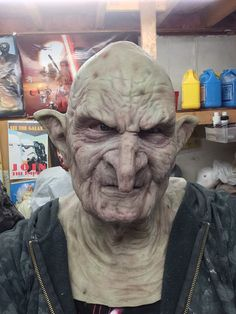 Mucklebones silicone mask made to order bald by OneailFXStudios