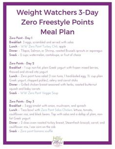 Diet Meals 3 Day Zero Point Meal Plan - Use this Weight Watchers 3 Day Zero Point Meal Plan for when you want to jump start your weight loss by eating only zero point foods. Plan Weight Watchers, Weight Watchers Smart Points, Weight Watchers Lunches, Weight Watchers Products, Weight Watchers Frozen Meals, Air Fryer Recipes Weight Watchers, Weight Watchers Pasta, Weight Watcher Smoothies, Weight Loss Meals