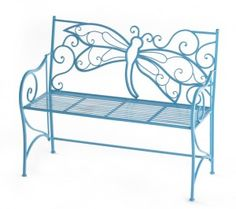 High Low: Dragonfly garden bench I love it Iron Furniture, Garden Furniture, Outdoor Furniture, Outdoor Decor, Playground Toys, Dragonfly Decor, Iron Bench, Garden Storage Shed, Shed Design