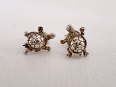925 Tiny Turtle Sterling Silver Stud Earrings, Vintage Minimalist Post Earrings, Birthday Anniversary Gift, ID 287193489 by LaBelleBead on Etsy